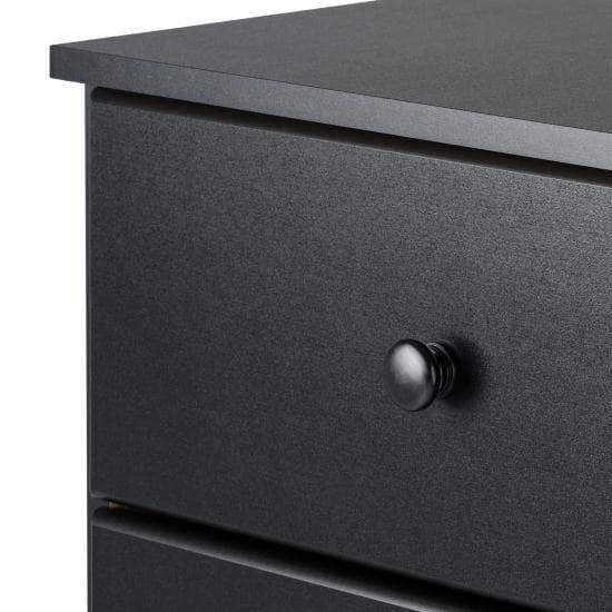 Prepac Astrid Bedroom Collection Black Astrid 6-Drawer Dresser - Multiple Options Available