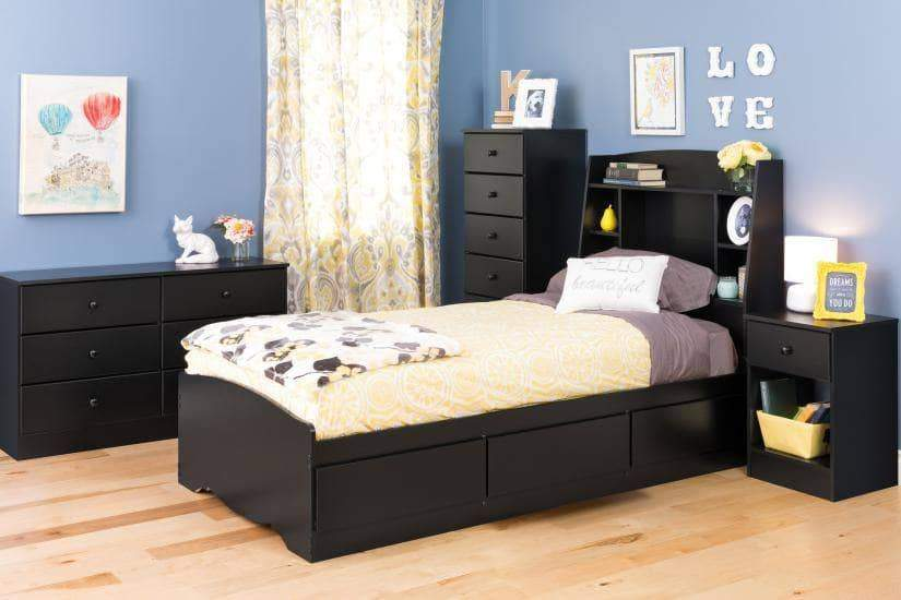 Prepac Astrid Bedroom Collection Black Astrid 6-Drawer Tall Chest - Multiple Options Available