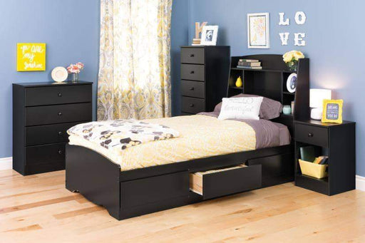 Prepac Astrid Bedroom Collection Black Astrid Twin Headboard - Multiple Options Available