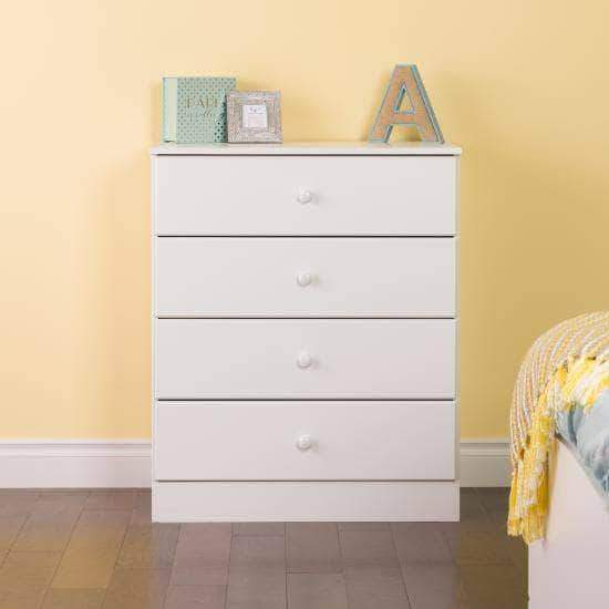 Prepac Astrid Bedroom Collection White Astrid 4-Drawer Dresser - Multiple Options Available