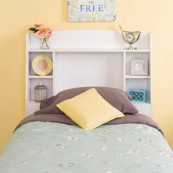 Prepac Astrid Bedroom Collection White Astrid Twin Headboard - Multiple Options Available