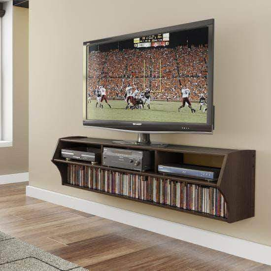 Prepac Audio Video Consoles Espresso Altus Plus 58 Inch Floating TV Stand - Multiple Options Available