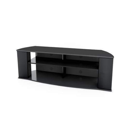 Prepac Audio Video Consoles Essentials 60-inch TV Stand in Black