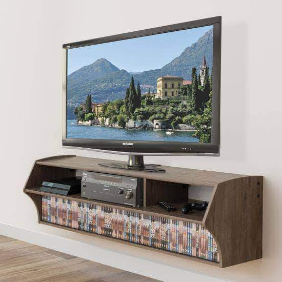 Prepac Audio Video Consoles Grey Altus Plus 58 Inch Floating TV Stand - Multiple Options Available