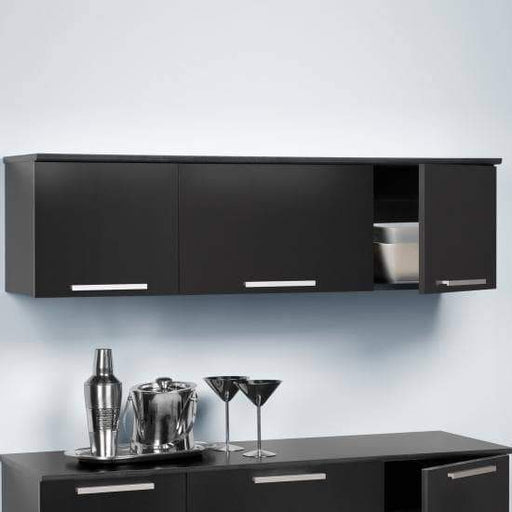 Prepac Bars, Servers & Carts Black Coal Harbor Wall Mounted Hutch - Multiple Options Available