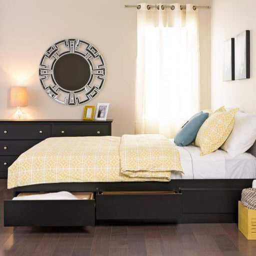 Prepac Bed Full / Black Mate's Platform Storage Bed with 6 Drawers - Multiple Options Available
