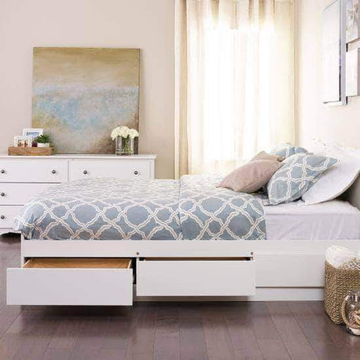 Prepac Bed Full / White Mate's Platform Storage Bed with 6 Drawers - Multiple Options Available