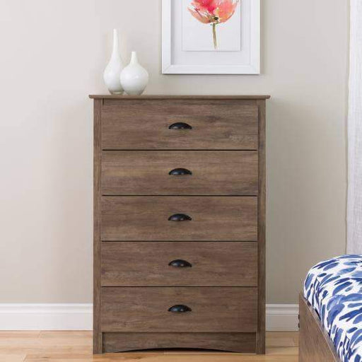 Prepac Bedroom Salt Spring 5 Drawer Chest