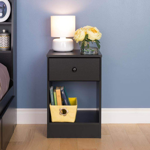 Prepac Black Astrid Tall 1-Drawer Nightstand - Multiple Options Available