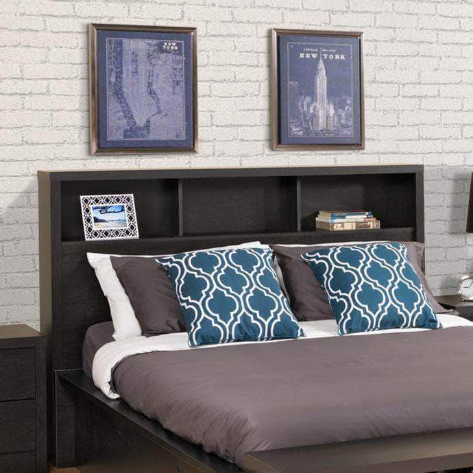 Prepac Calla Bedroom Collection Full/Queen / Black Calla Headboard - Multiple Options Available