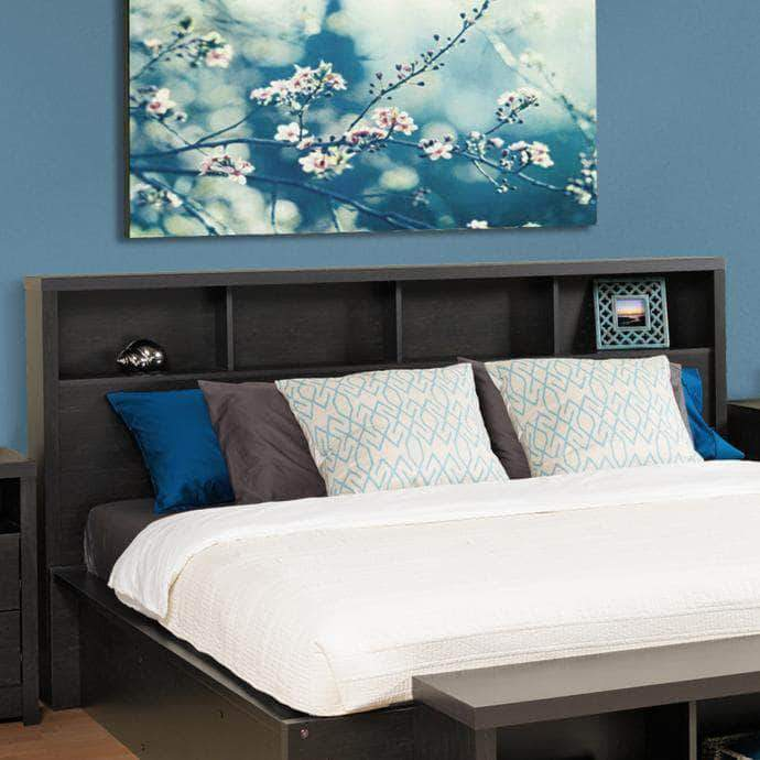 Prepac Calla Bedroom Collection King / Black Calla Headboard - Multiple Options Available