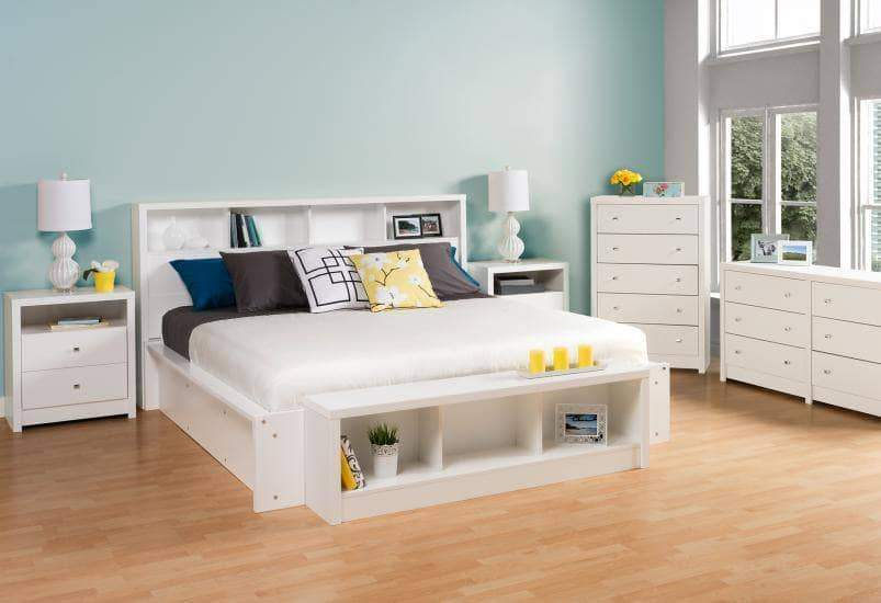 Prepac Calla Bedroom Collection White Calla Tall 2-Drawer Nightstand - Multiple Options Available