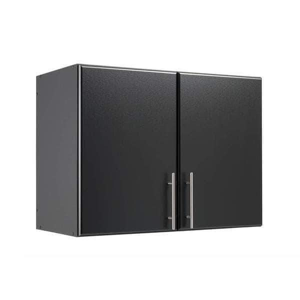 Prepac ELITE Home Storage Collection Black Elite 32 inch Stackable Wall Cabinet - Multiple Options Available