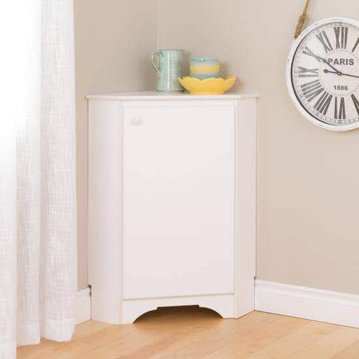 Prepac Elite Home Storage Collection Elite White Corner Storage Cabinet