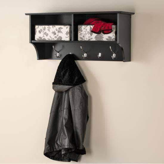 Prepac Entryway Black 36 Inch Wide Hanging Entryway Shelf - Multiple Options Available