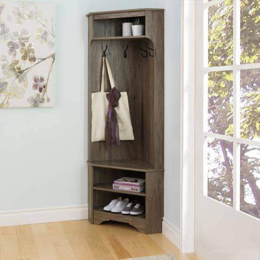 Prepac Entryway Drifted Grey Corner Hall Tree - Multiple Options Available