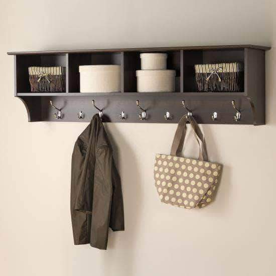 Prepac Entryway Espresso 60 inch Wide Hanging Entryway Shelf - Multiple Options Available