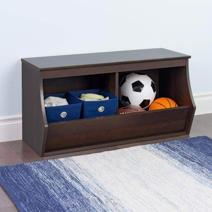 Prepac Entryway Espresso Monterey Stackable 2-Bin Storage Cubby - Multiple Options Available