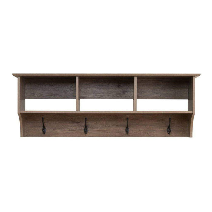 Prepac Entryway Grey 48 Inch Wide Hanging Entryway Shelf - Multiple Options Available