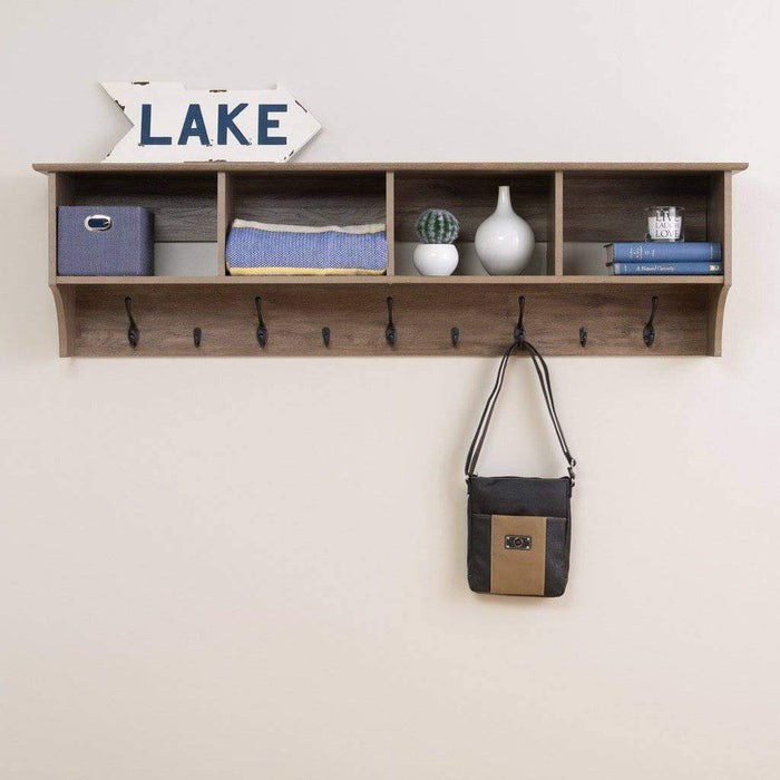 Prepac Entryway Grey 60 inch Wide Hanging Entryway Shelf - Multiple Options Available