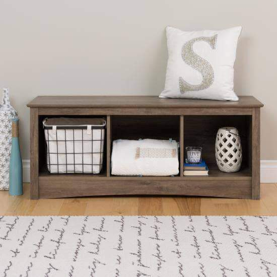 Prepac Entryway Grey Cubbie Bench - Multiple Options Available