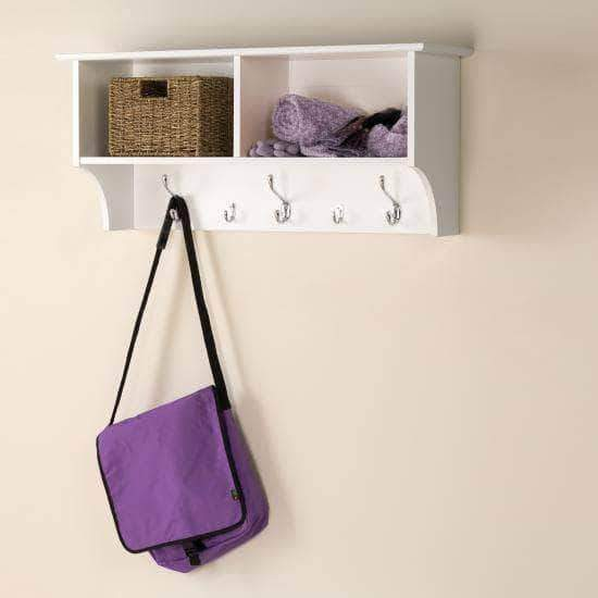 Prepac Entryway White 36 Inch Wide Hanging Entryway Shelf - Multiple Options Available