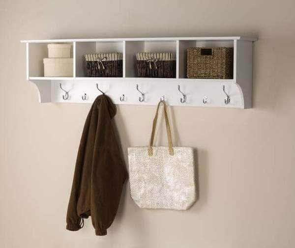 Prepac Entryway White 60 inch Wide Hanging Entryway Shelf - Multiple Options Available