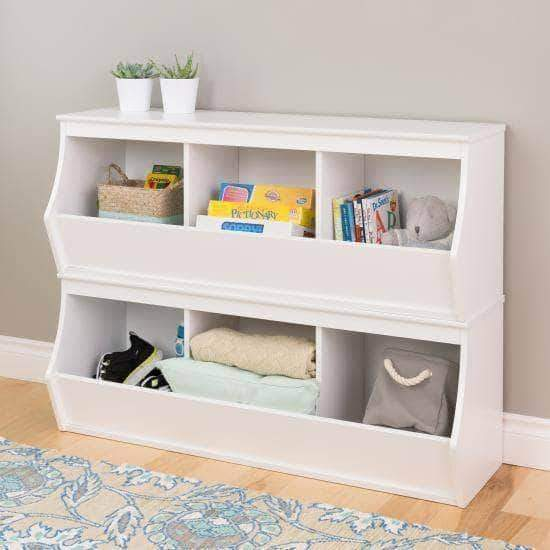 Prepac Entryway White Fremont Stacked Six Bin Storage Cubby - Multiple Options Available