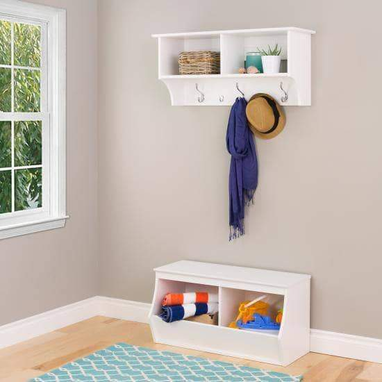 Prepac Entryway White Monterey Stackable 2-Bin Storage Cubby - Multiple Options Available