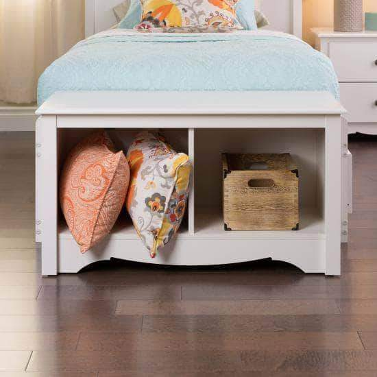 Prepac Entryway White Twin Cubbie Bench - Multiple Options Available