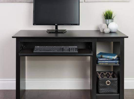Prepac Home Office Black Computer Desk