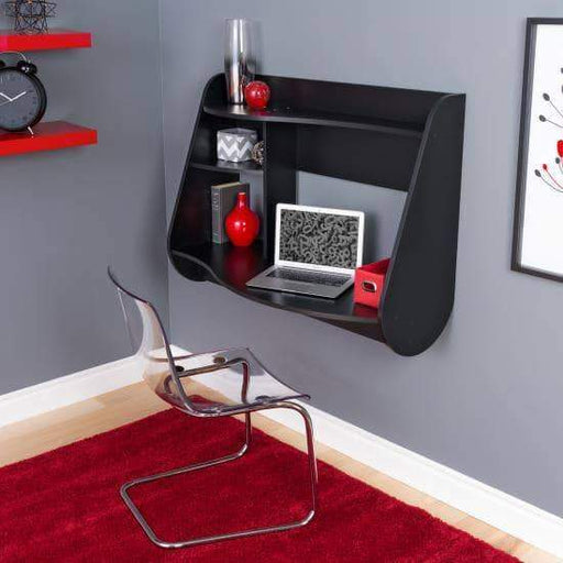 Prepac Home Office Black Kurv Floating Desk - Multiple Options Available