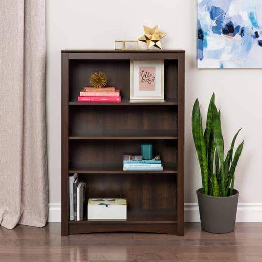 Prepac Home Office Espresso Four Shelf Bookcase - Multiple Options Available