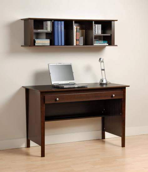 Prepac Home Office Espresso Wall Mounted Desk Hutch - Multiple Options Available