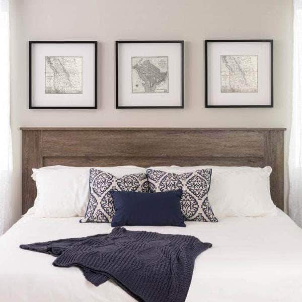 Prepac King / Drifted Grey Flat Panel Headboard - Multiple Options Available