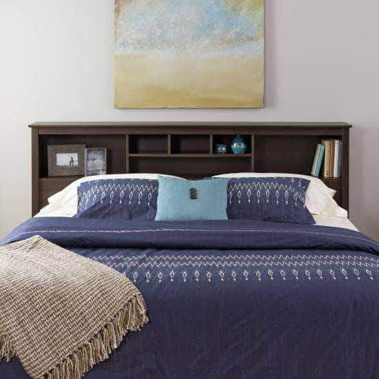 Prepac King / Espresso Bookcase Headboard - Multiple Options Available