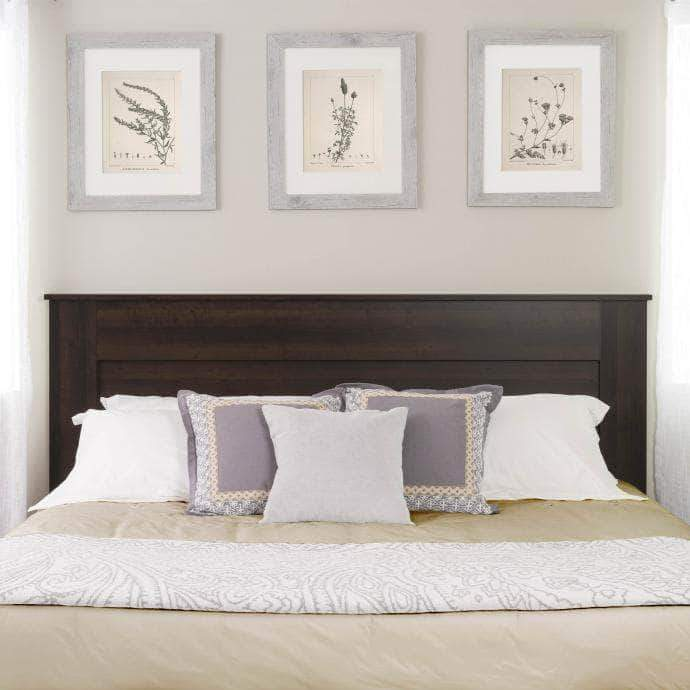 Prepac King / Espresso Flat Panel Headboard - Multiple Options Available