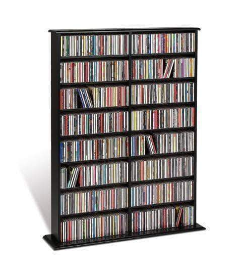 Prepac Multimedia Storage Black Double Width Wall Storage - Multiple Options Available