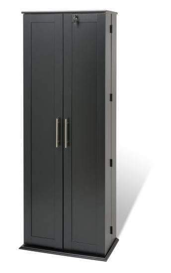 Prepac Multimedia Storage Black Grande Locking Media Storage Cabinet with Shaker Doors - Multiple Options Available