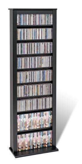 Prepac Multimedia Storage Black Slim Barrister Tower - Multiple Options Available