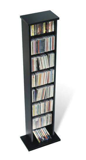 Prepac Multimedia Storage Black Slim Multimedia Storage Tower - Multiple Options Available