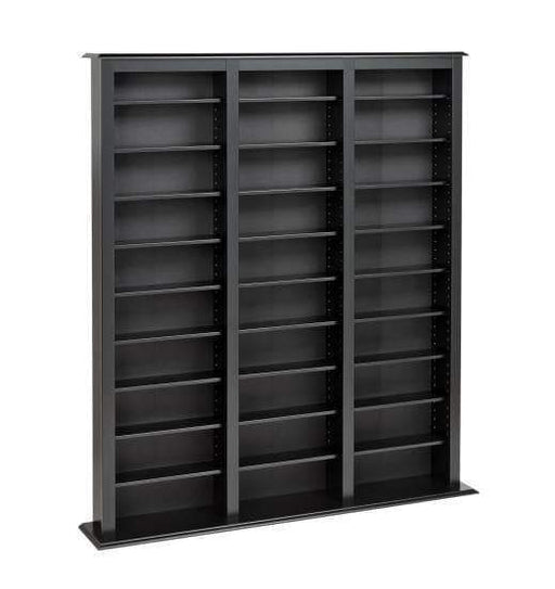 Prepac Multimedia Storage Black Triple Width Barrister Tower - Multiple Options Available