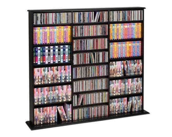 Prepac Multimedia Storage Black Triple Width Wall Storage - Multiple Options Available