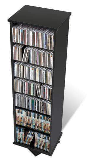 Prepac Multimedia Storage Black Two Sided Spinning Tower - Multiple Options Available