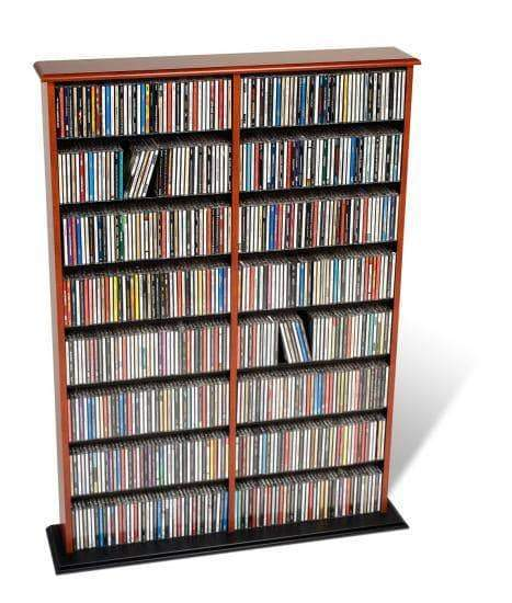 Prepac Multimedia Storage Cherry and Black Double Width Wall Storage - Multiple Options Available