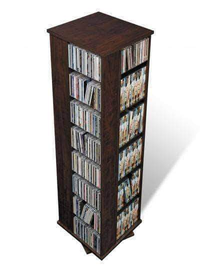 Prepac Multimedia Storage Espresso Large Four Sided Spinning Tower - Multiple Options Available