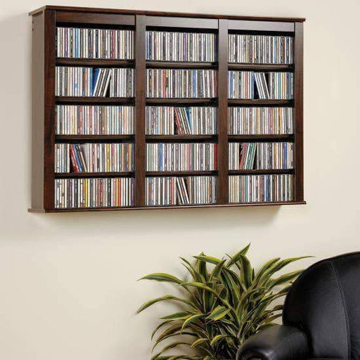 Prepac Multimedia Storage Espresso Triple Wall Mounted Storage - Multiple Options Available