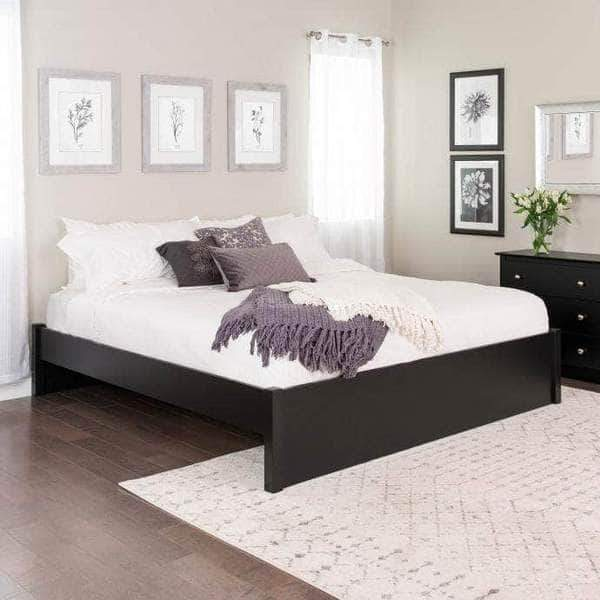 Prepac Platform Beds King / Black Select 4-Post Platform Bed - Multiple Options Available