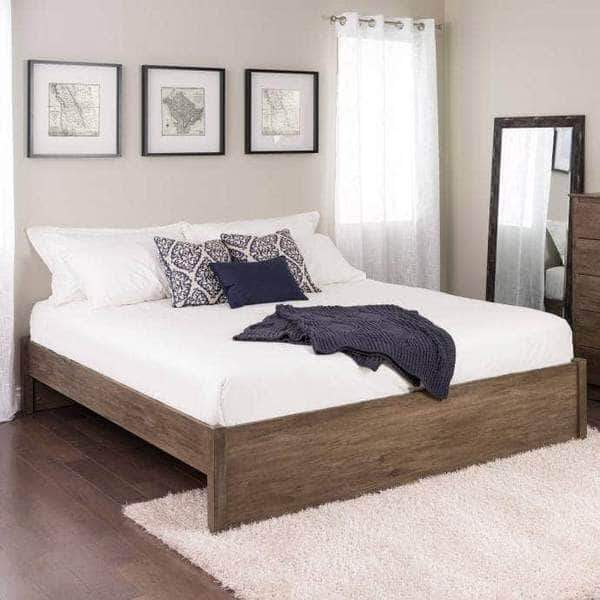 Prepac Platform Beds King / Drifted Grey Select 4-Post Platform Bed - Multiple Options Available