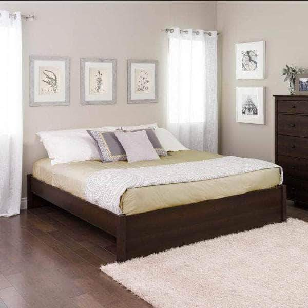 Prepac Platform Beds King / Espresso Select 4-Post Platform Bed - Multiple Options Available
